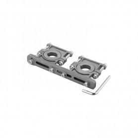 Soporte para 2 LNB´s en aluminio, ajustable 3 a 6.2º