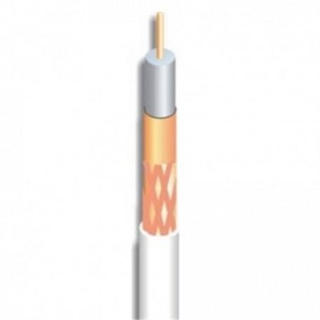 Cable coaxial de 6,8mm, conductor interno 1,13mm de Cobre, malla y lámina de cobre