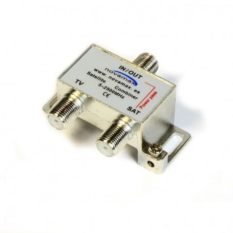 Mezclador TV Terrestre + SAT con conector F