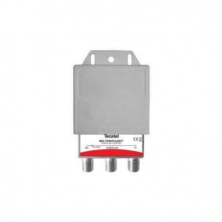 Mezclador RF/SAT, con conector F de Exterior