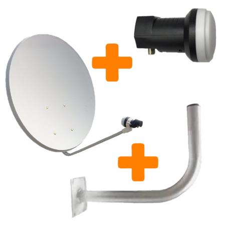 Kit 10 antenas 60 cms + 10 LNB´s + 10 soportes