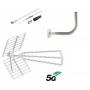 Kit antena UHF + cable + soporte