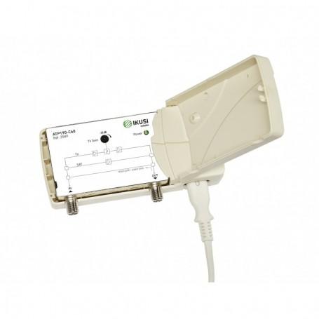 Amplificador interior TDT + Satélite, 1 salida